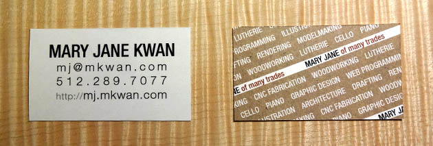 business card for Mary Jane Kwan